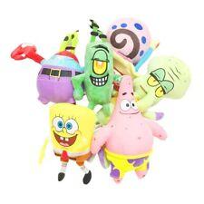Sponge bob squarepant and five other characters animation plush toys doll 6pcs/l