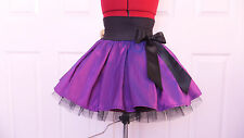 NEW HANDMADE GIRLS PURPLE BLACK TUTU MINI SKIRT IRISH DANCE SCHOOL 6 - 8 YRS