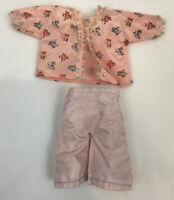 Vintage Cosmopolitan Ginger Doll Clothes Pajamas Top Floral Pink Tagged Pants