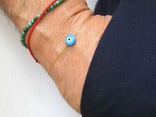 blue evil eye natural shell gold filled lucky charm bracelet amulet blessed new