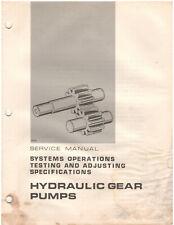 Towmotor Hydraulic Gear Pumps Test Amp Adjust Service Manual Rec00724 01 D1349