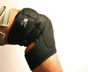 Knee Magnetic sports support infrared neoprene health brace Black use