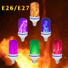 New 4 Modes LED Flicker Flame Light Bulb Simulated Burning Fire Effect E27 E26