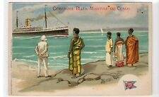 COMPAGNIE BELGE MARITIME DE CONGO: Shipping advertising postcard (C15973)