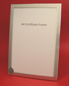 A4 Certificate Picture Frame Treble Clef Music Design School Diploma Award NEW