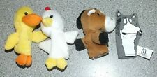 4 Pcs Set Finger Puppets Toy Wolf Horse Chicken Duck