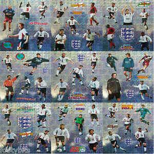 Merlin England Football Multiple Shiny Stickers 1990s - Various