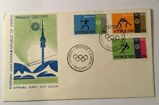 CYPRUS FIRST DAY COVER OLYMPIC GAMES MUNICH 1972