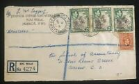1956 Bog Walk Jamaica Citrus Growers Commercial Cover To Glasgow Scotland