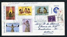 Suriname FDC E17_  2 (?) M, met adres ; extra frankering