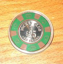 $25. Jockey Club Casino Chip - 1983 - Bud Jones - Las Vegas, Nevada