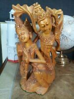 Vintage Thai Hand Carved Sandlewood Sculpture - Mid Century -Vgc - Stylish Decor