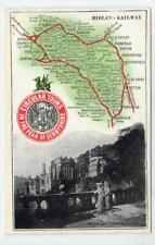 More details for haddon hall: midland railway 1904 official map postcard (c63477)