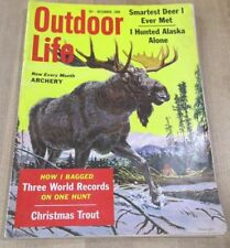 Outdoor Life December 1959  Smartest deer Hunted Alaska World Records more  >