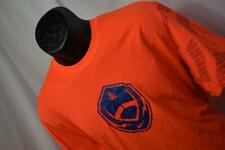 28892 Mens Nike Dri Fit Football Oange Work Out Gym Shirt Sz XL