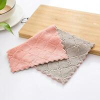 1PCS Super Absorbent Microfiber Kitchen Dish Cloth Household Cleaning Towels