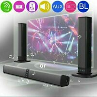 Portable Surround Sound Bar 4 Speaker System Wireless Subwoofer TV Home Theater