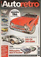 AUTO RETRO 294 TRIUMPH TR4 FORD GT40 427ci PEUGEOT 203 MATRA 530 VOLVO 122 S XJ8