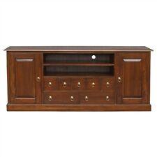 Hawaii 187 cm solid Mahogany Timber TV Entertainment Unit 2 doors 7  drawers