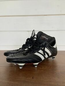 Adidas World Cup Original Football Boots Made In Germany Size Uk 8 Black SF