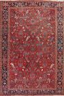 Vintage Geometric Oriental Traditional Area Rug Hand-knotted Wool Carpet 9x12 ft