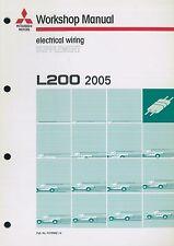 2005 MITSUBISHI L200 ELEKTRIK SCHALTPLÄNE ELECTRICAL WIRING DIAGRAM SUPPLEMENT