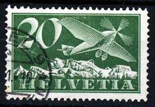 SWITZERLAND 1937 20c. Green AIR MAIL SG 317a VFU