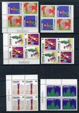Canada 1975 Christmas Blocks Inc 'Scarce' No Marginal Vertical Perforations. MNH