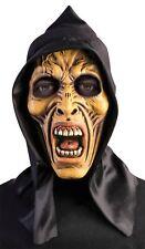 Máscara De Zombie con Capucha Grim Reaper Esqueleto Aterrador Calavera Fantasma Halloween Vestido de fantasía