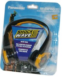 Panasonic Shock Wave RF-SW150 FM-AM 2-Band Stereo Headphone Receiver Yellow NOS