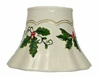 Yankee Candle Holly and Berries Holiday Christmas Jar Shade Topper New With Tags