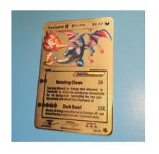 Pokemon Charizard Gold Delta EX GX Star Shadowless Set Base Custom Metal Card