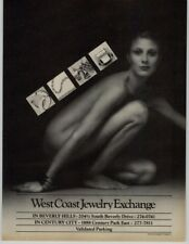 West Coast Jewelry Exchange Nude Robert Powley Photographer 1979 Print Ad