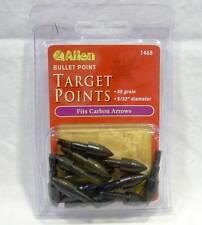 "Allen Archery #1468 Bullet Field Target Points 85 Grain 9/32"" Fits Carbon Arrows"