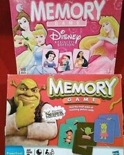 TWO Memory Games Disney Princess Edition and Dreamworks Shrek Forever After 100%