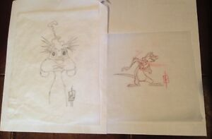 The LION KING 1 1/2 - Timon Pumbaa Concept Drawing Production Art - Disney, 2004
