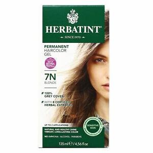 Herbatint Permanent Herbal Hair Color Gel, 7N Blonde, 4.56 Ounce