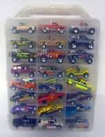 HOT WHEELS 48 CAR CARRY CASE WITH CARS Racing Trucks Chevy & Dodge Die-cast