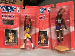 97 SHAQUILLE ONEAL STARTING LINEUP SET NEW IN BOX WEST COAST CONVENTION AND DUNK