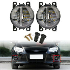 Pair Car Round Front Fog Lights DRL Daytime Running Lights 500LM For Ford Focus