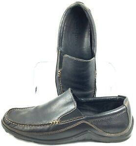 Cole Haan Tucker Loafer Mens Sz 10 M Black Leather Slip On Venetian Shoes C03557