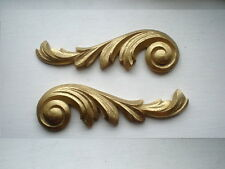 MIRROR FRAME PICTURE FRAME PAIR ANTIQUE GOLD ORNATE SCROLL MOULDINGS