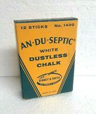 Vintage Binney & Smith AN-DU-SEPTIC Dustless Chalk No. 1400 ~ 5 pcs. in Nice Box