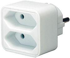 brennenstuhl Mehrfachsteckdose Steckdosenadapter 2-fach Eurosteckdose