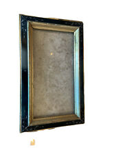 Antique Ebonized Eastlake Frame Hand Lacquered Victorian - Gilded Liner