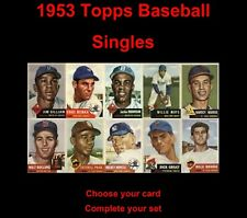1953 Topps Baseball Singles ... You Choose Card ... Complete your set!