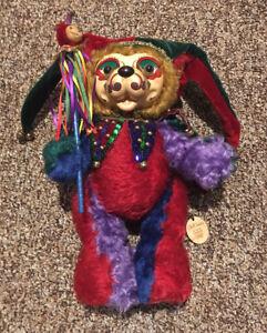 Robert Raikes Rare Mohair Olaff Court Jester Bear Unusually #'d   XXX/750