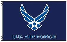 US Air Force Flag New Style Wings Logo 3x5 ft USAF White on Blue Veteran Active