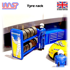 WASP 3D printed Tyre rack with logo, Wheel rack, track side, scenery, 1/32, kit