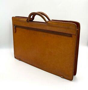 VTG Pegasus Belting Leather Attache Portfolio Document Briefcase Handled Bag